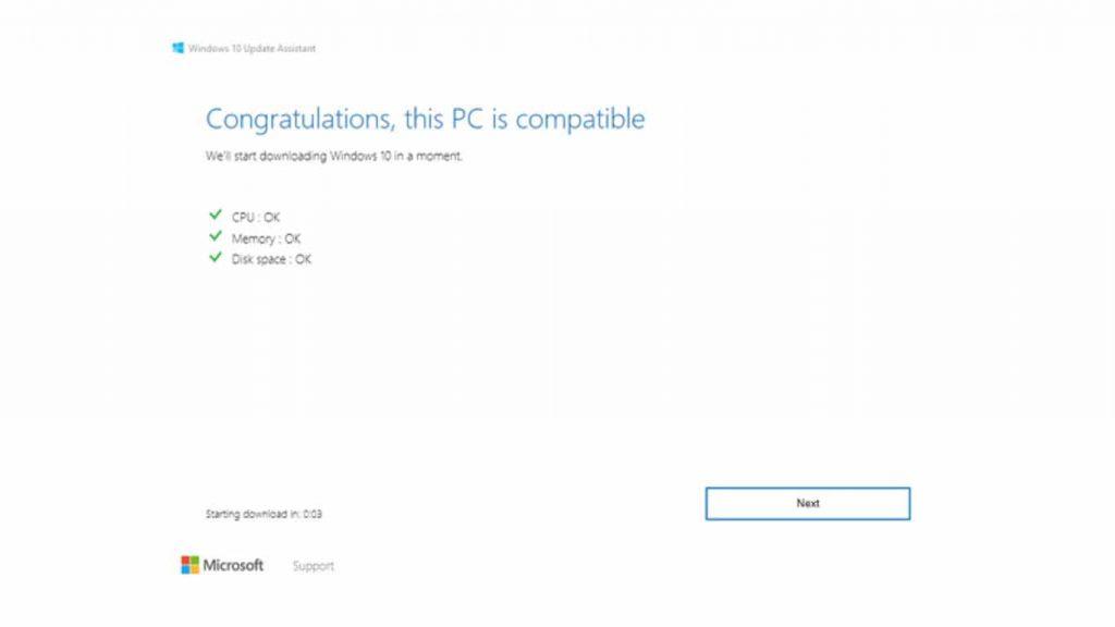 instal update windows 10