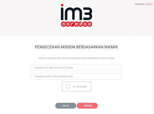 Cara Cek Nomor Indosat dengan NIK dan KK Via Web