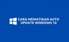 Cara Mematikan Automatic Update Windows 10