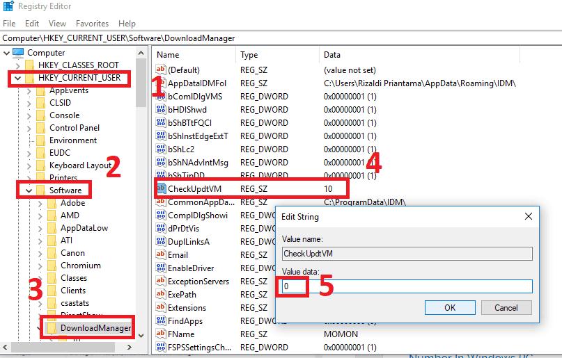 Cara mengatasi IDM Fake serial number registry