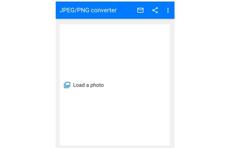 4. Tekan Load a photo dan pilih foto yang ingin diubah menjadi .jpeg
