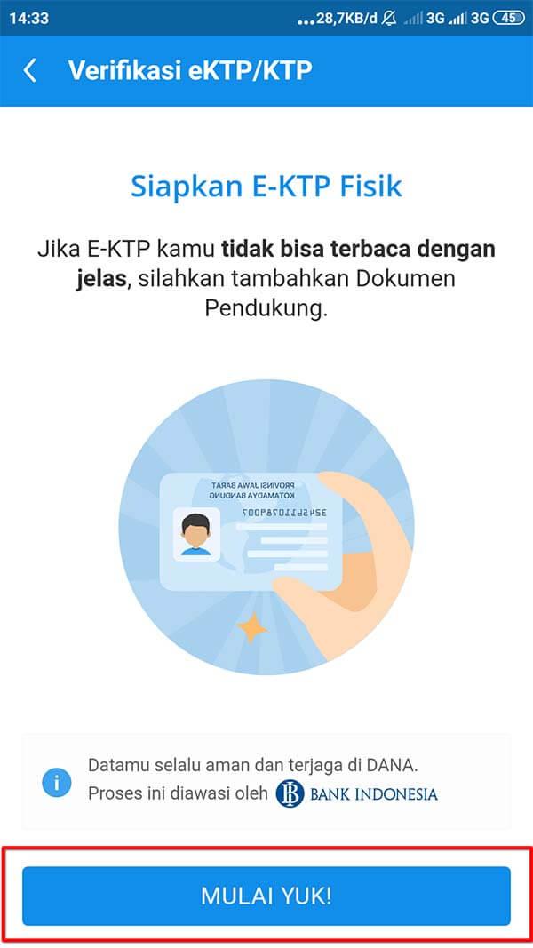 verifikasi dana premium