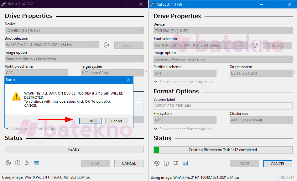 membuat bootable flashdisk windows dengan rufus